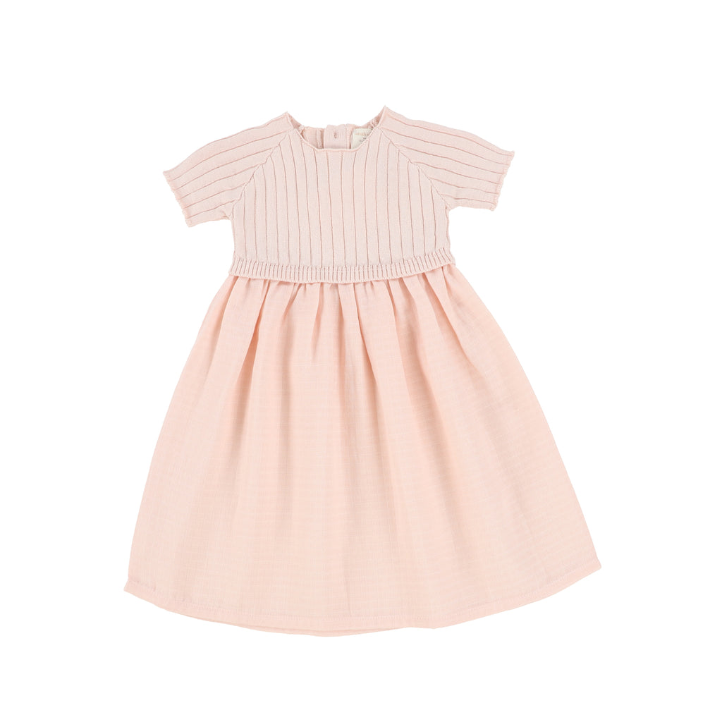 Analogie Pink Short Sleeve Knit Dress