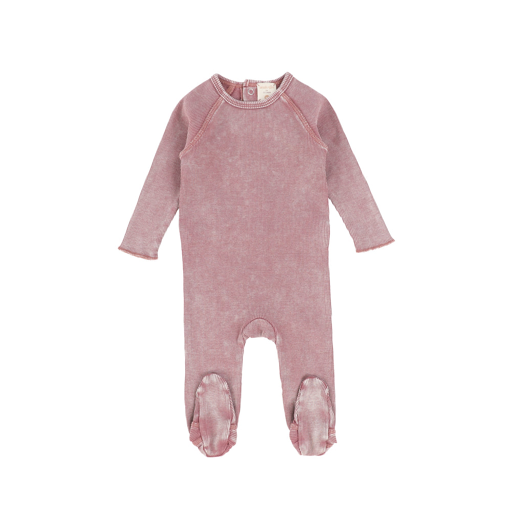 Analogie by Lil Legs Pink Wash Footie