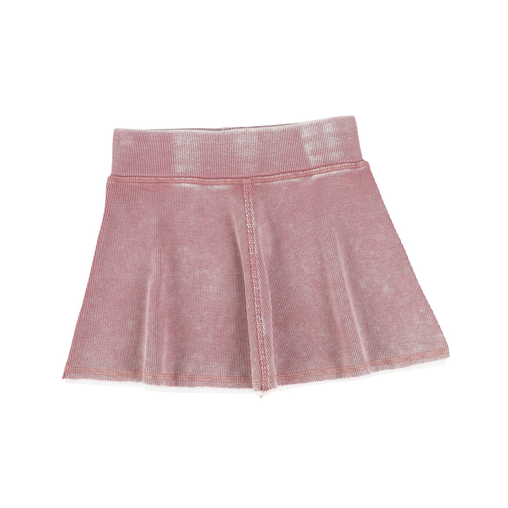 Lil Legs By Analogie Pink Denim Wash Skirt