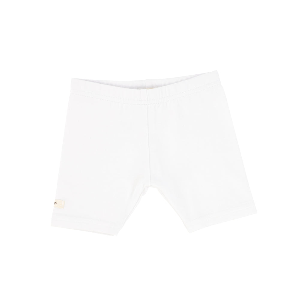 Lil Legs Pure White Short Leggings