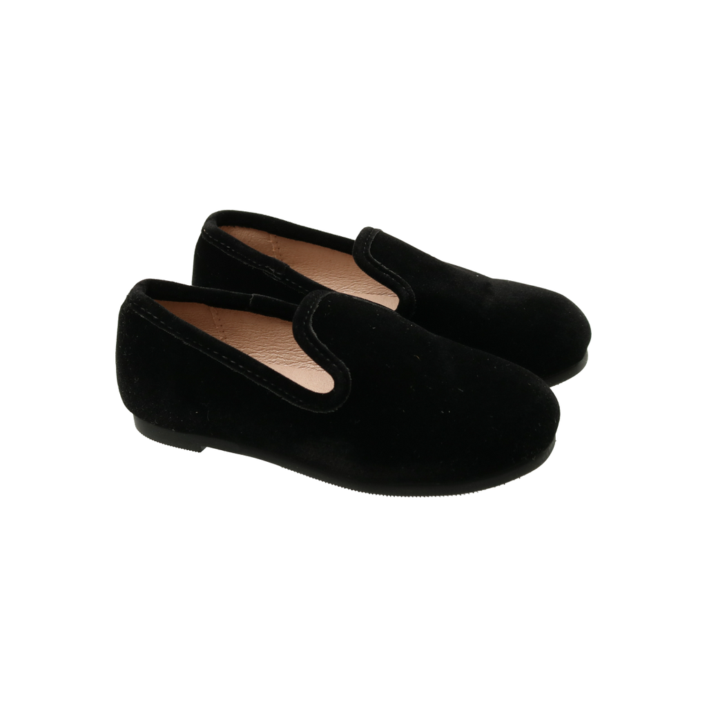 Zeebra Kids Raven Black Velvet Loafer