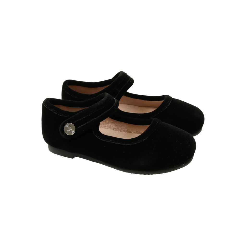 Zeebra Kids Raven Black Classic Velvet Mary Jane