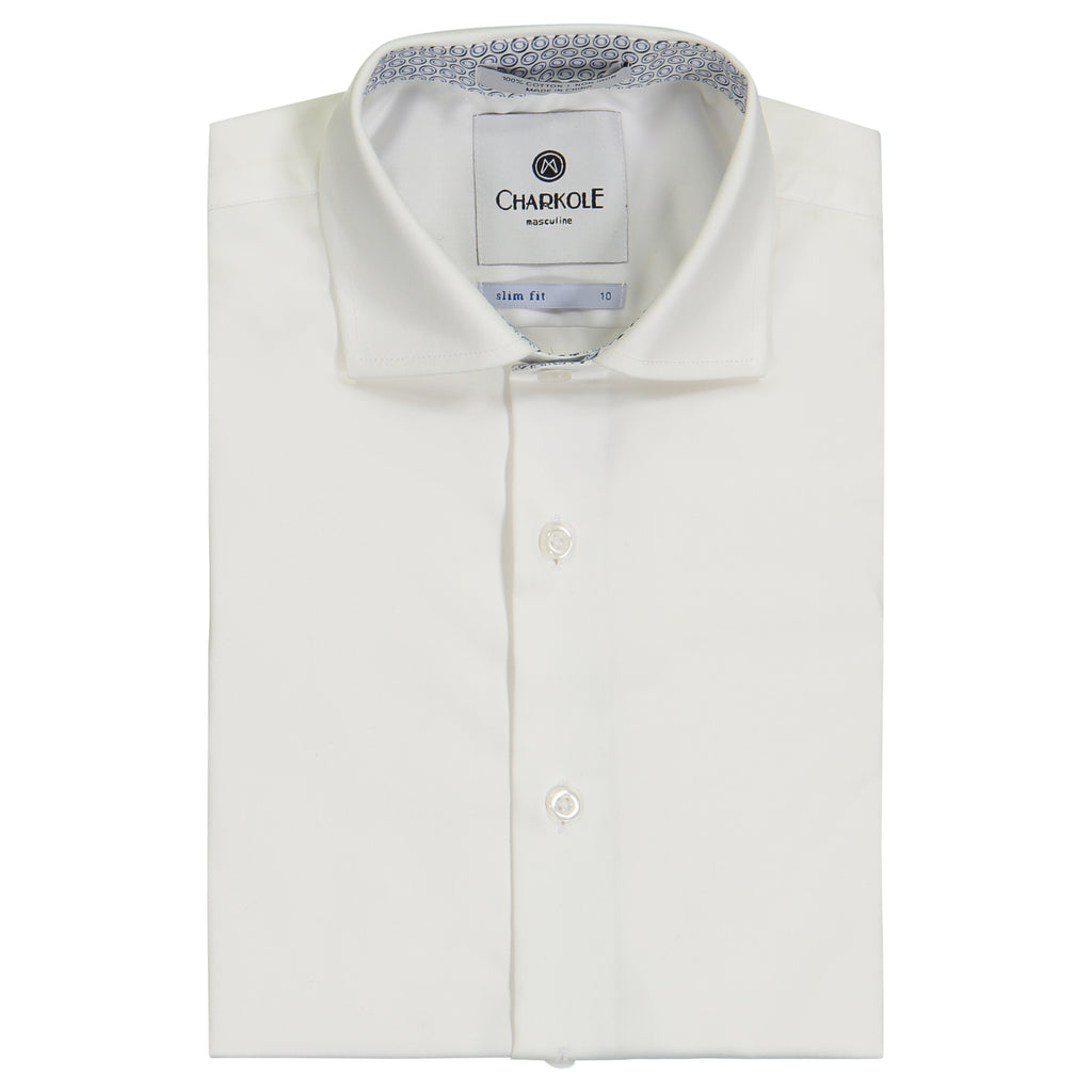 Charkole Slim Fit Semi Circle Short Sleeve Shirt