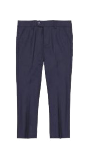 Charkole Navy Slim Fit Dress Pant