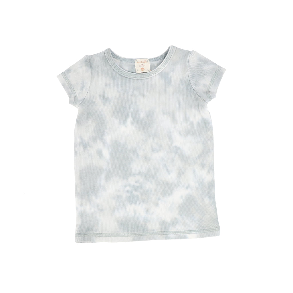 Lil Legs By Analogie Seafoam Watercolor Short Sleeve Tee