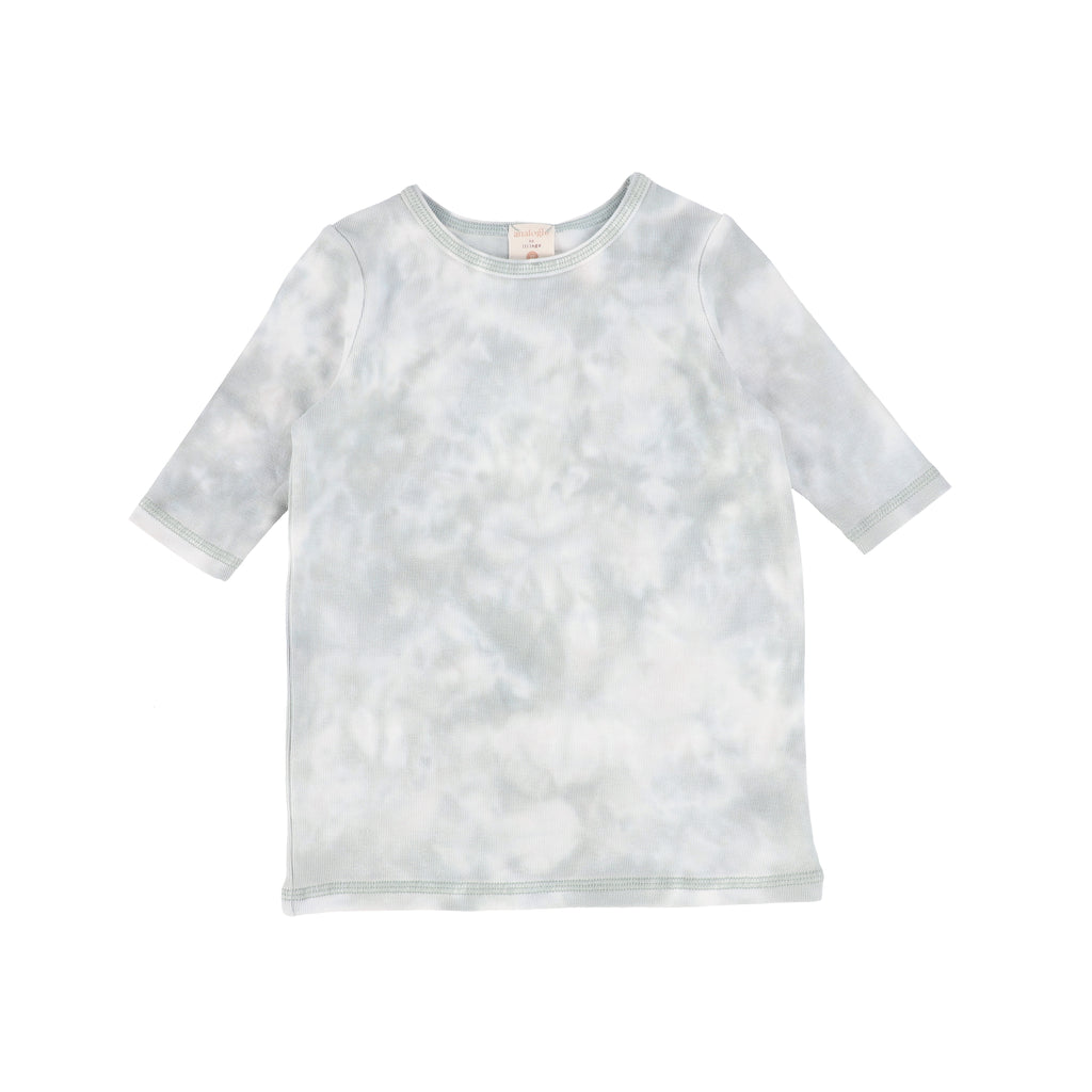 Lil Legs By Analogie Seafoam 3/4 Sleeve Tee