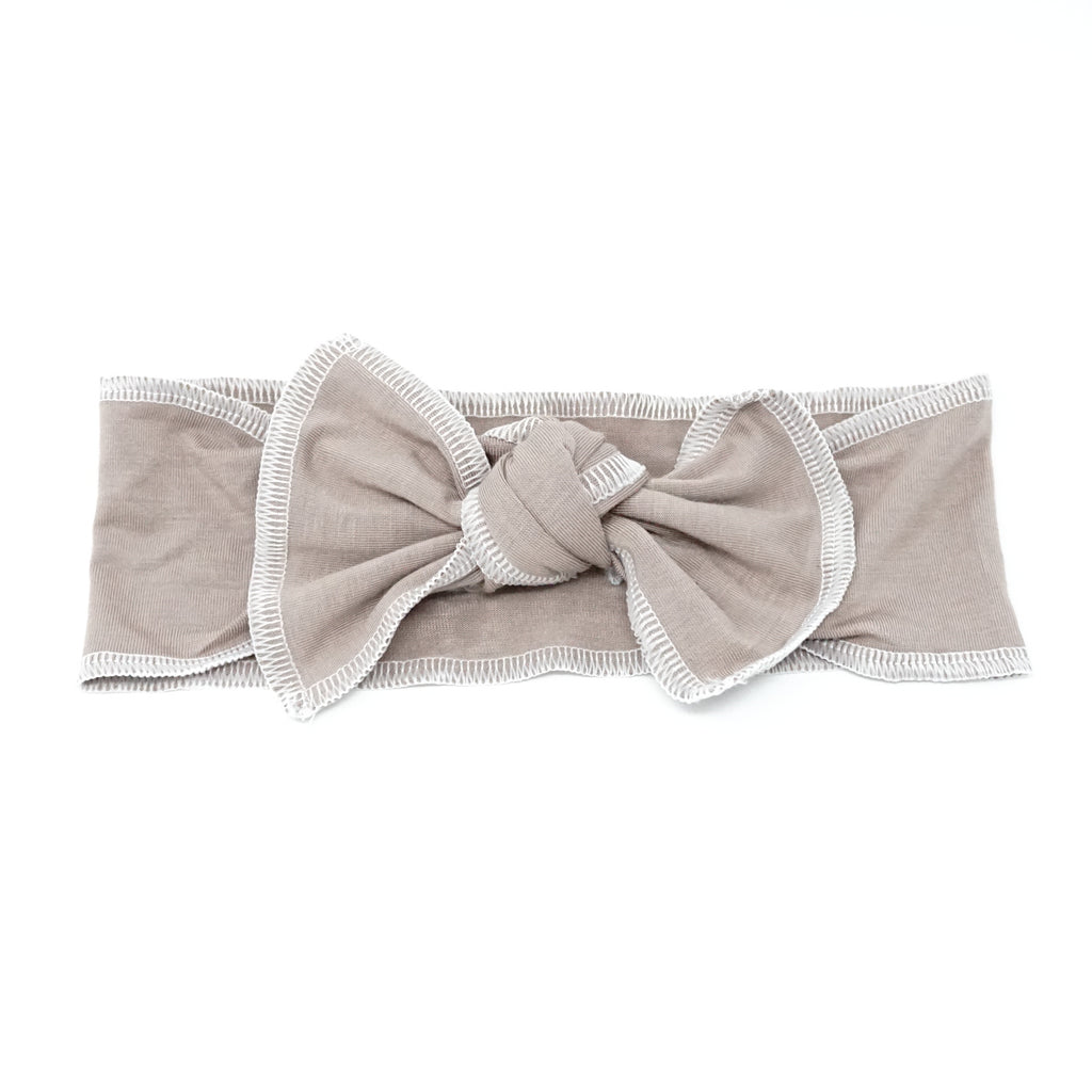 Bandeau Taupe Stiched Edge Baby Band