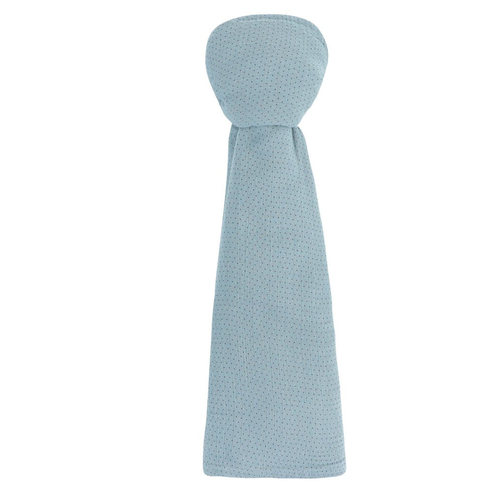 Ely's & Co. Light Blue Pin Dot Muslin Swaddle