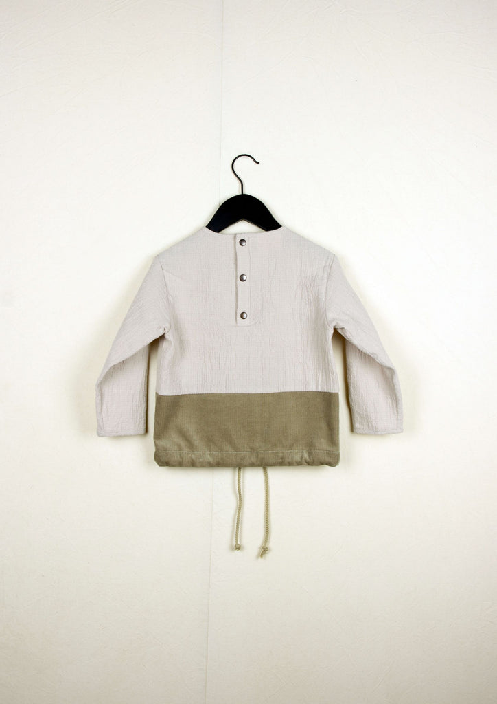 Popelin Sand Two Tone Shirt