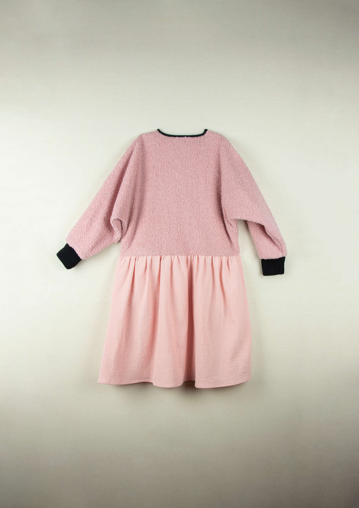 Popelin Pink Dress With Sides