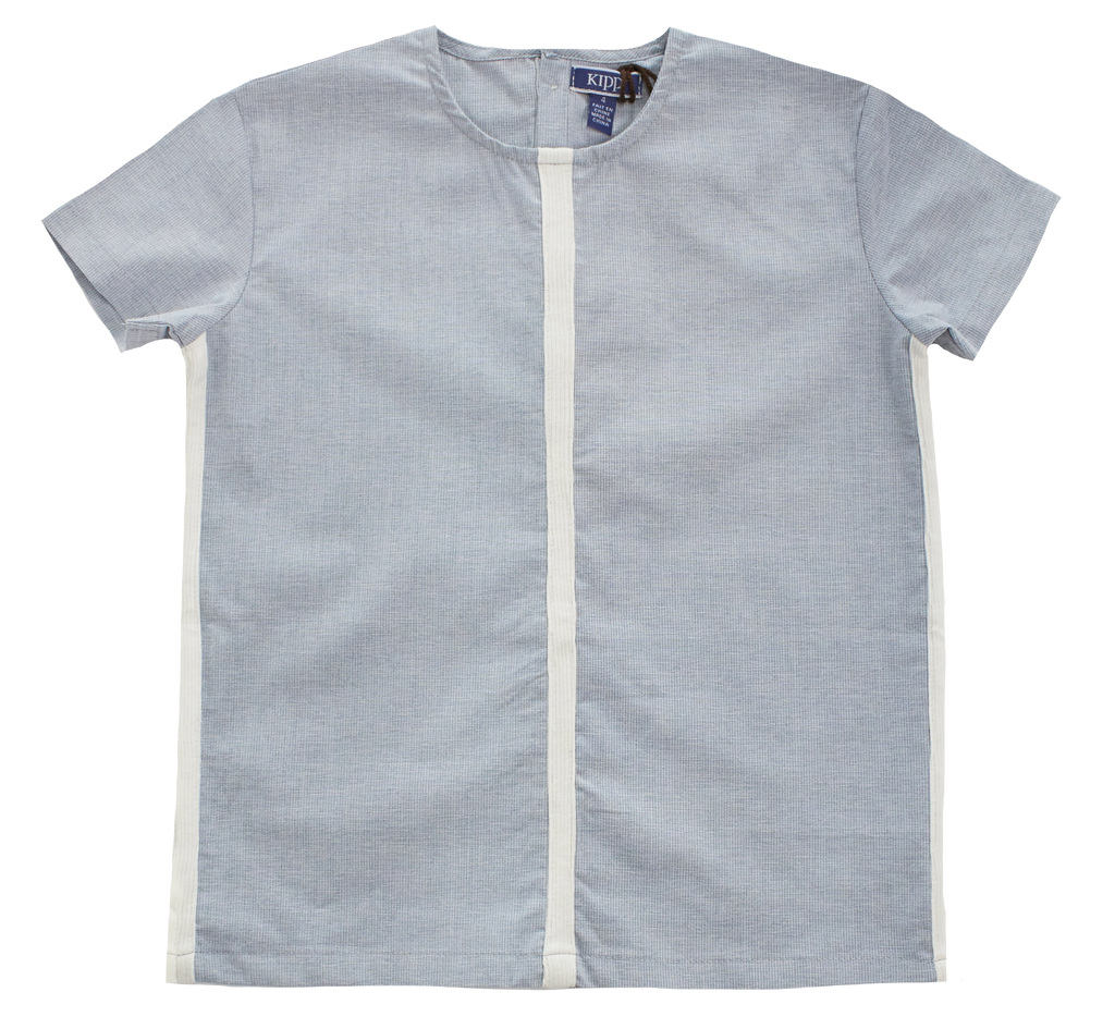 Kipp Light Blue Rib Insert Shirt