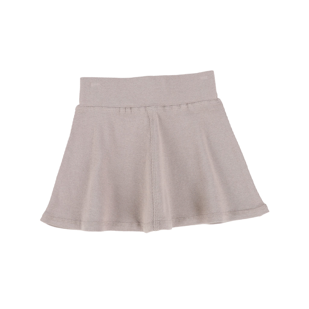 Lil Legs Taupe Ribbed Skirt