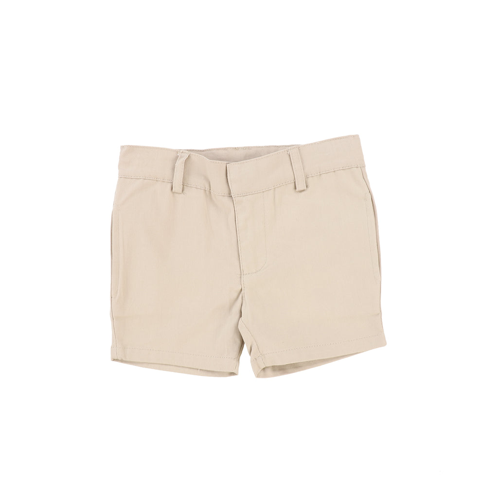 Lil Legs Taupe Cotton Shorts