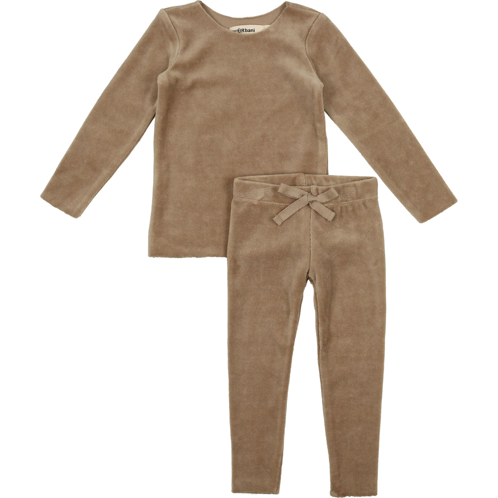 Urbani Taupe Exposed Seams Baby Set
