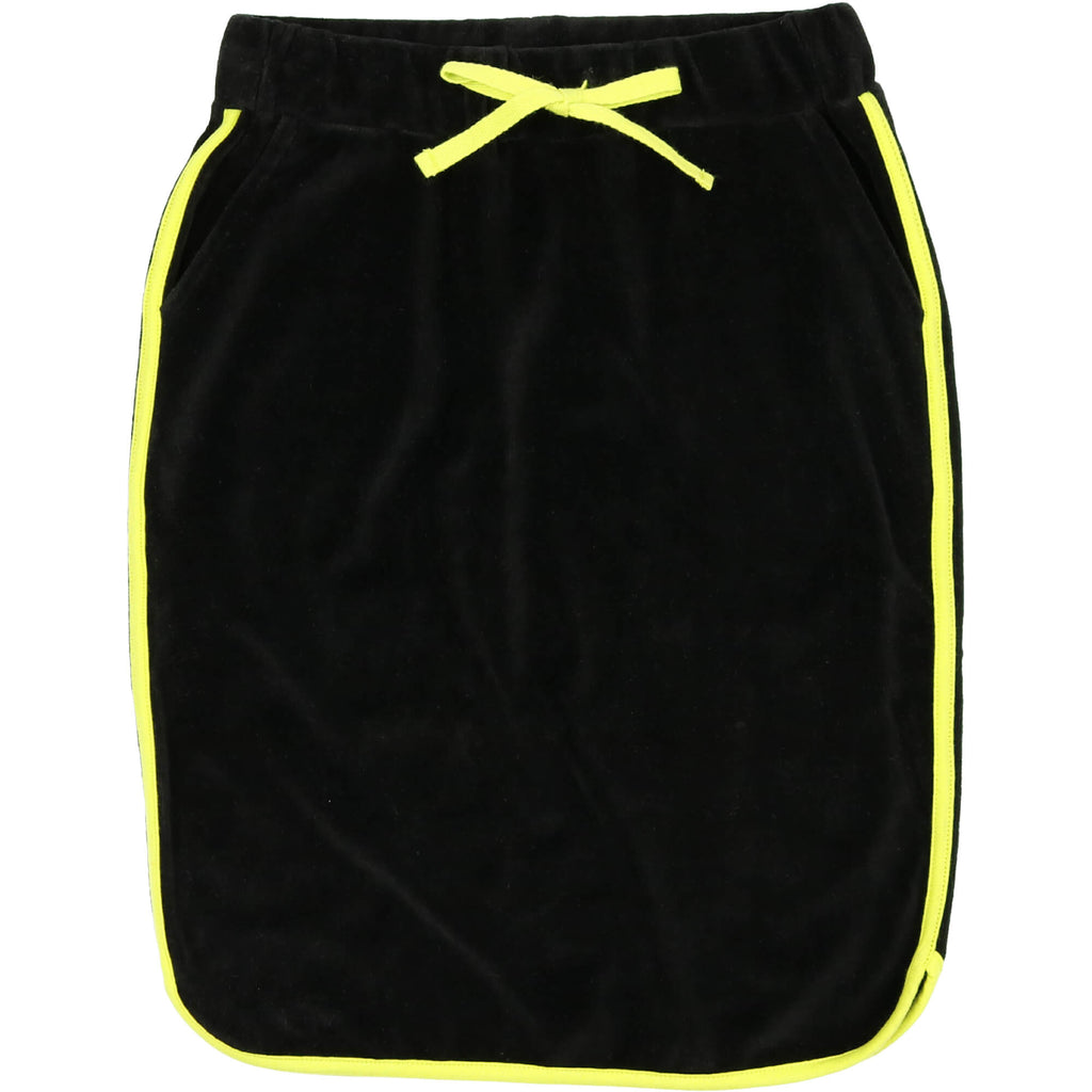 Urbani Black & Neon Yellow Dolphin Skirt