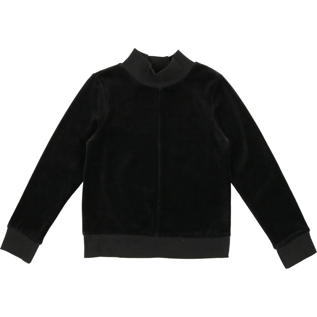 Urbani Black Velour Sweatshirt