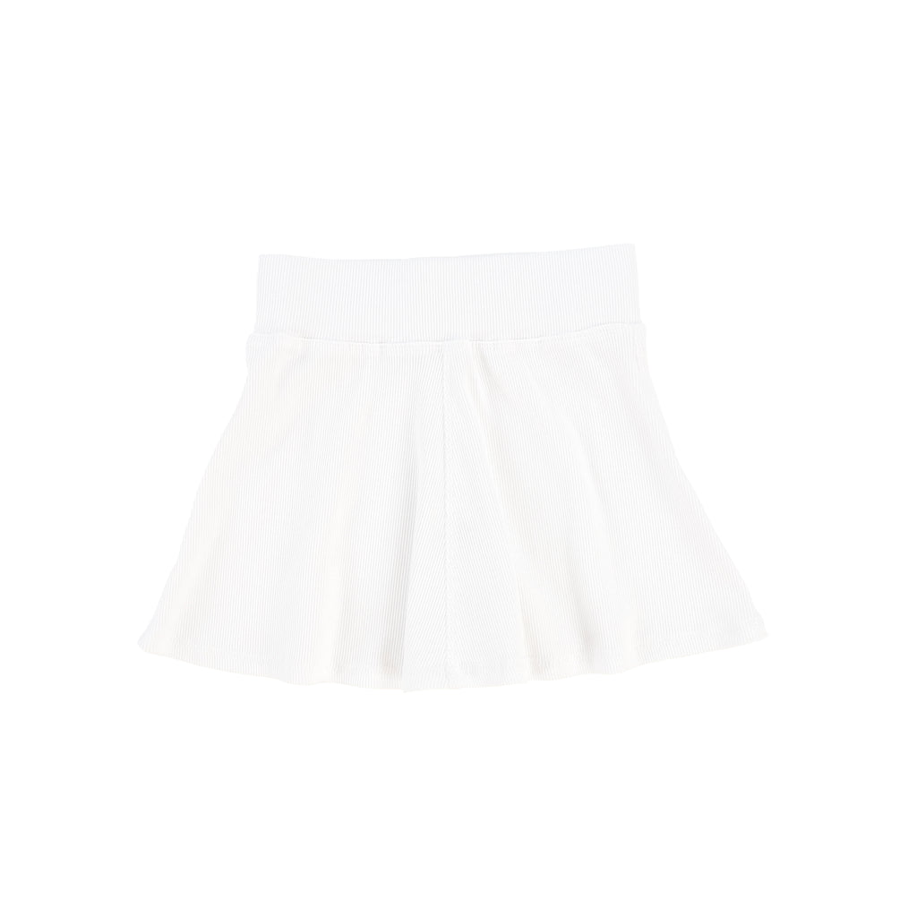 Lil Legs Pure White Ribbed Skirt