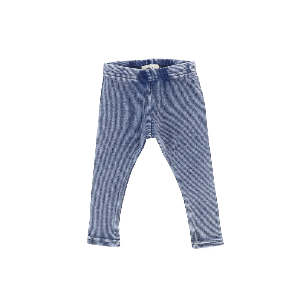 Lil Legs Blue Wash Rib Legging