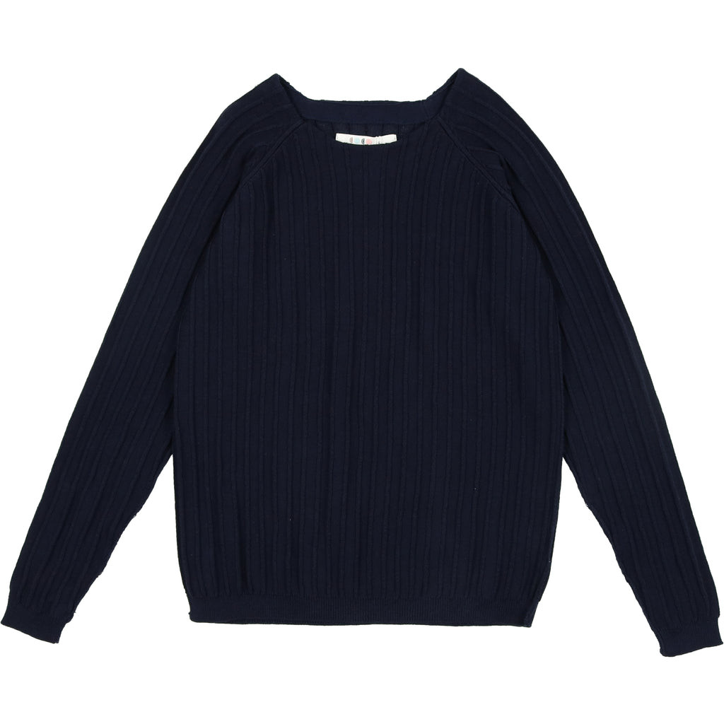 Coco Blanc Navy Crew Sweater