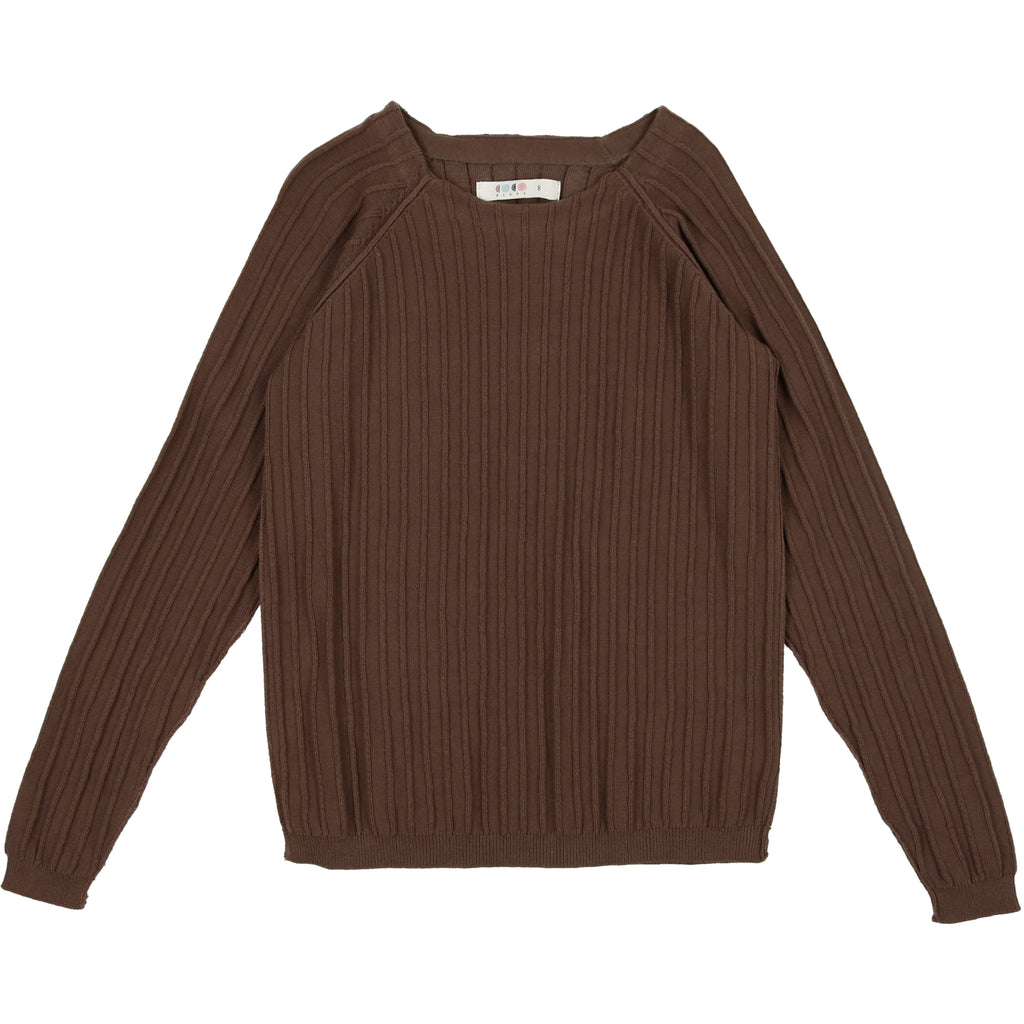 Coco Blanc Toffee Crew Sweater