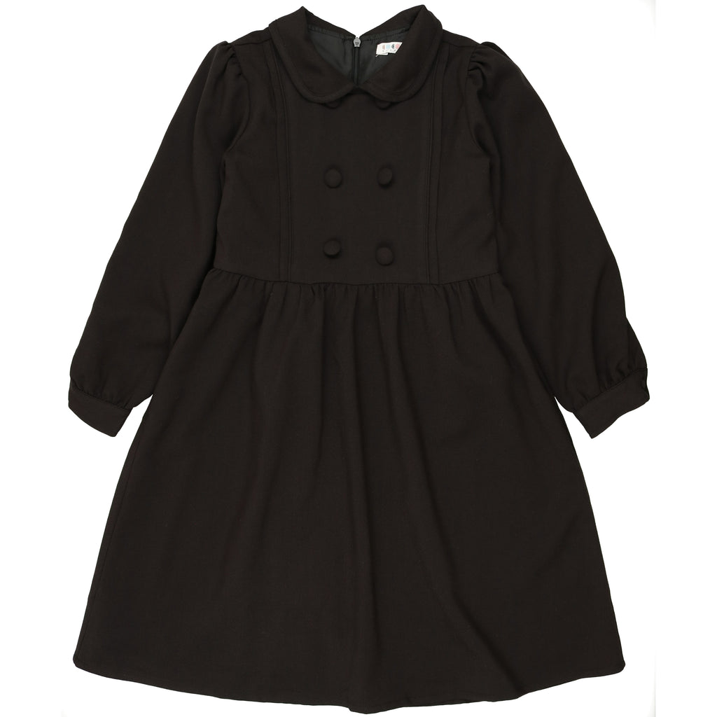 Coco Blanc Black Wool Peter Pan Dress