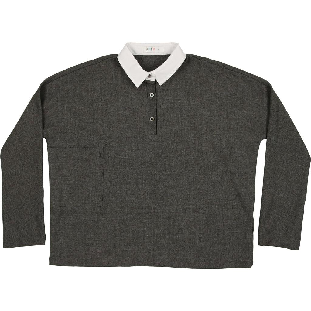 Coco Blanc Heathered Grey Wool Shirt
