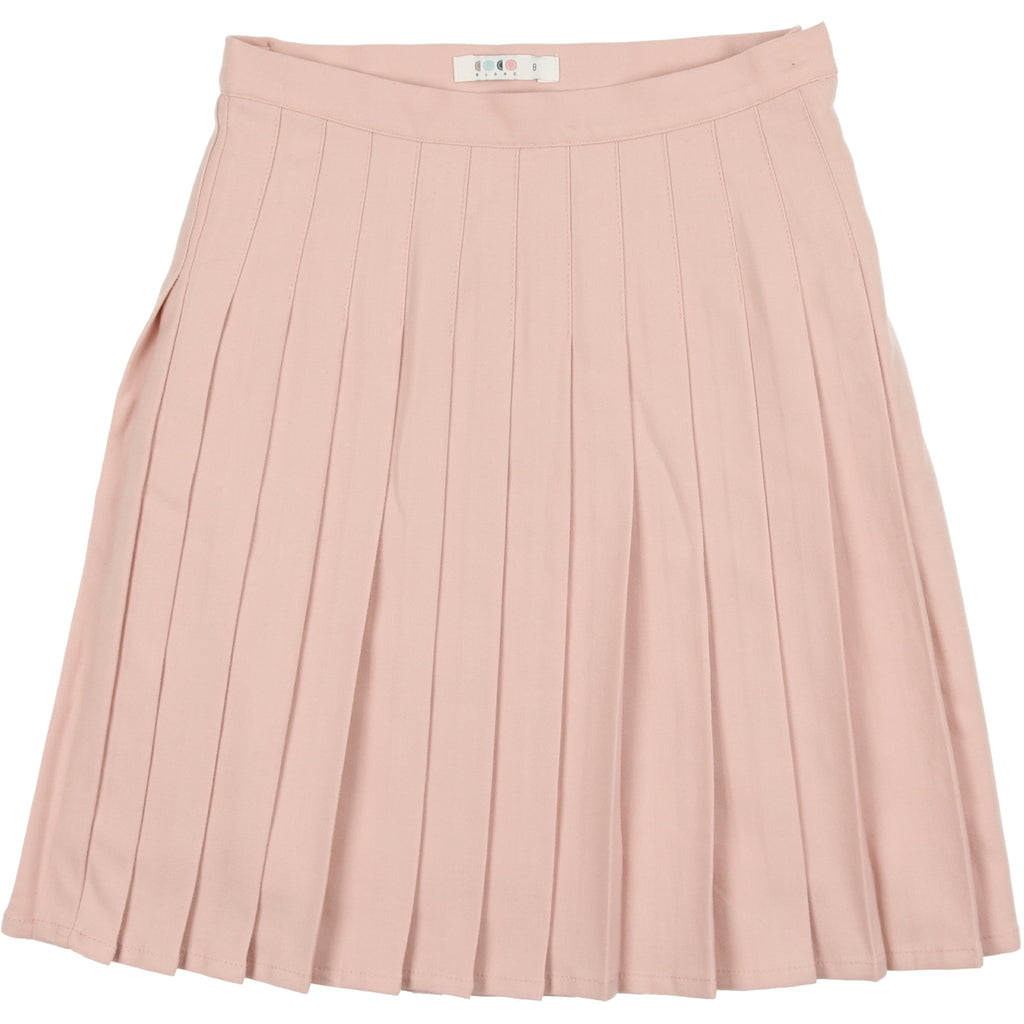 Coco Blanc Mauve Wool Pleated Skirt