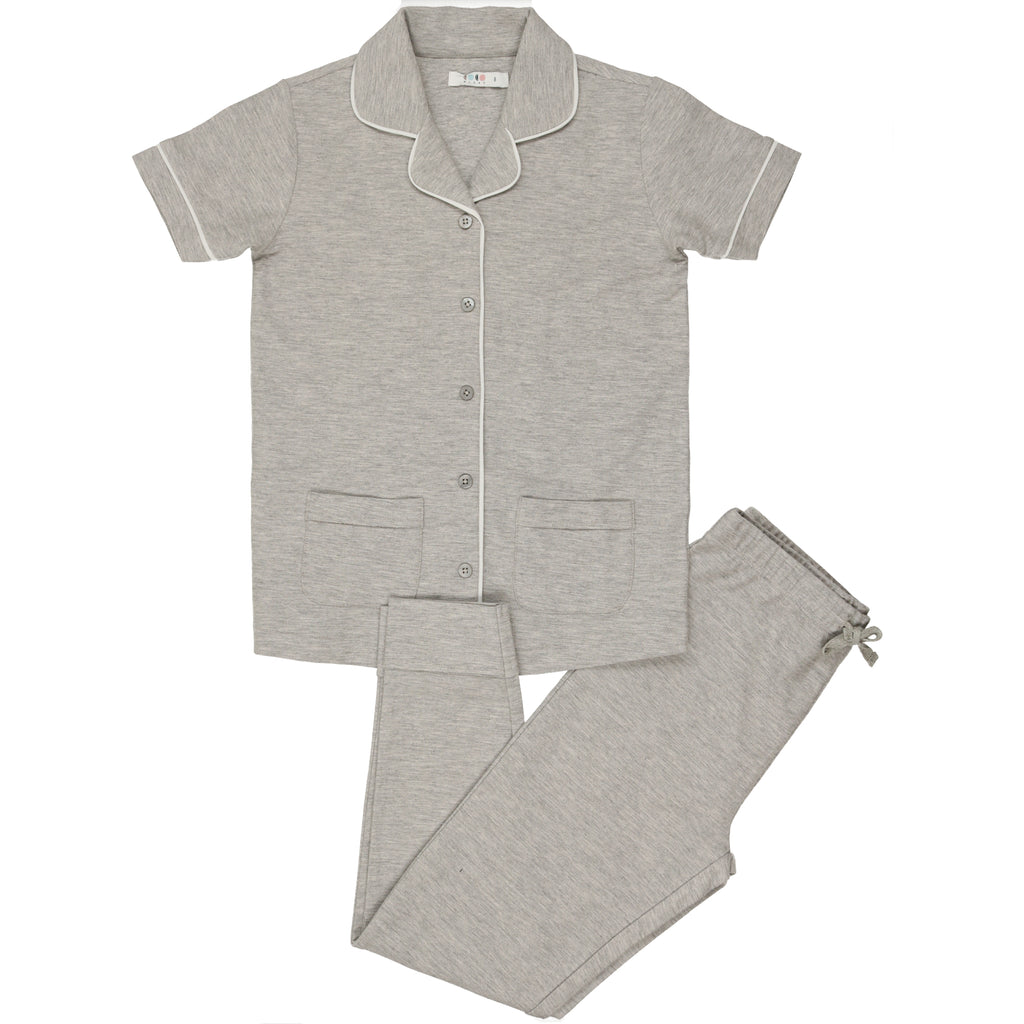 Coco Blanc Grey French Terry Pajama