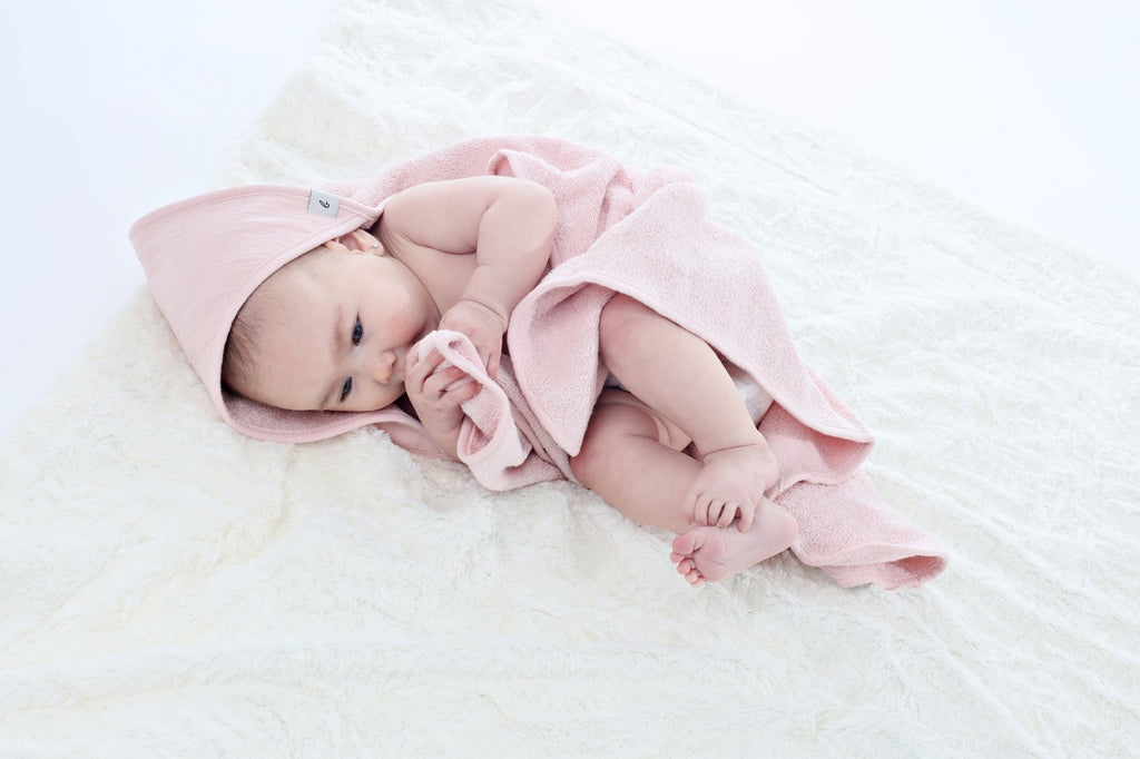 Lil Legs x BCP Pink Hooded Towel with Pink Trim