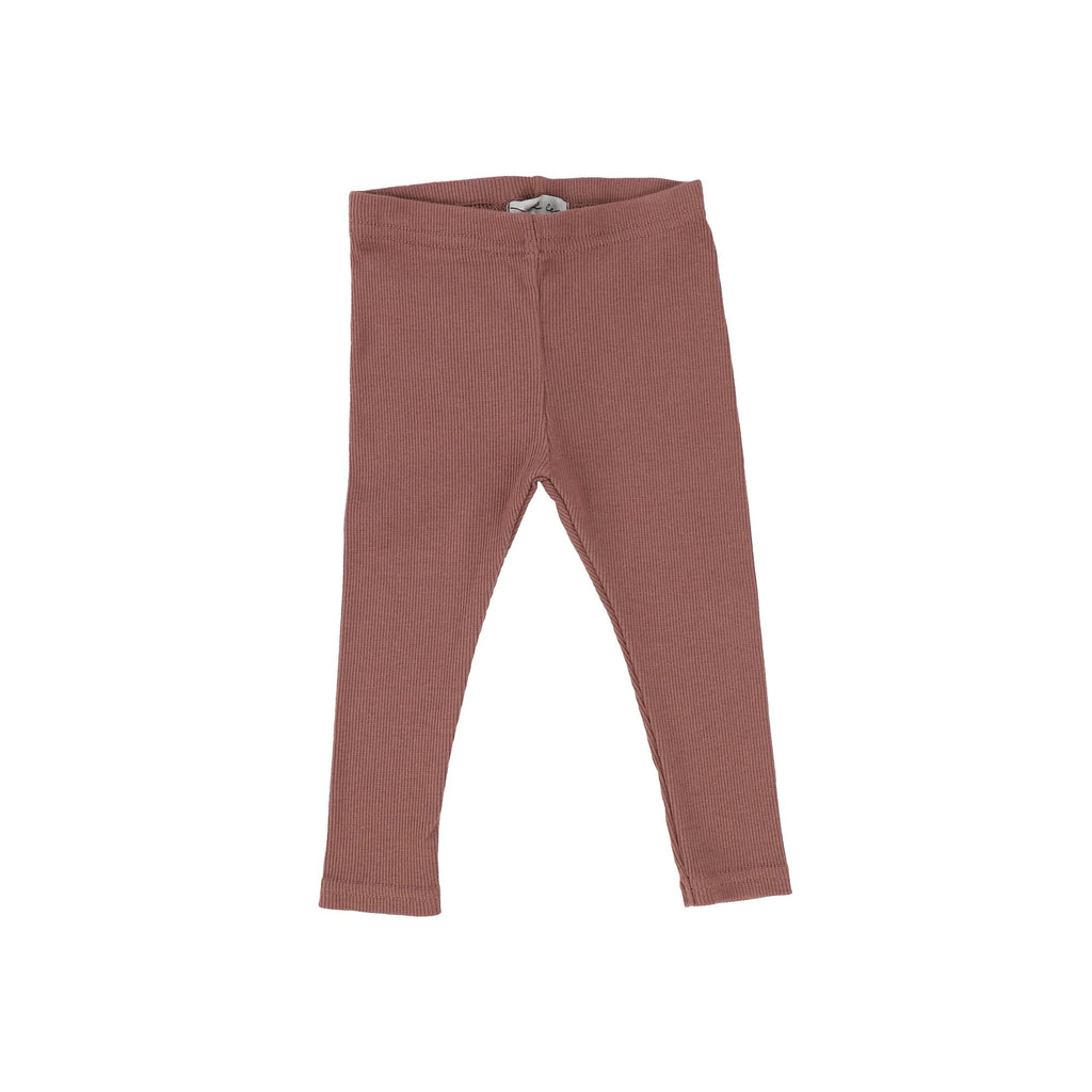 Lil Legs Dusty Rose Rib Legging