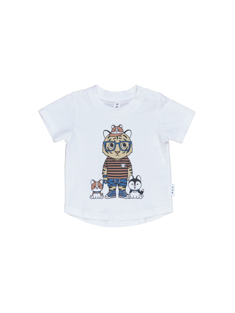 Hux White Puppy Pals T-shirt