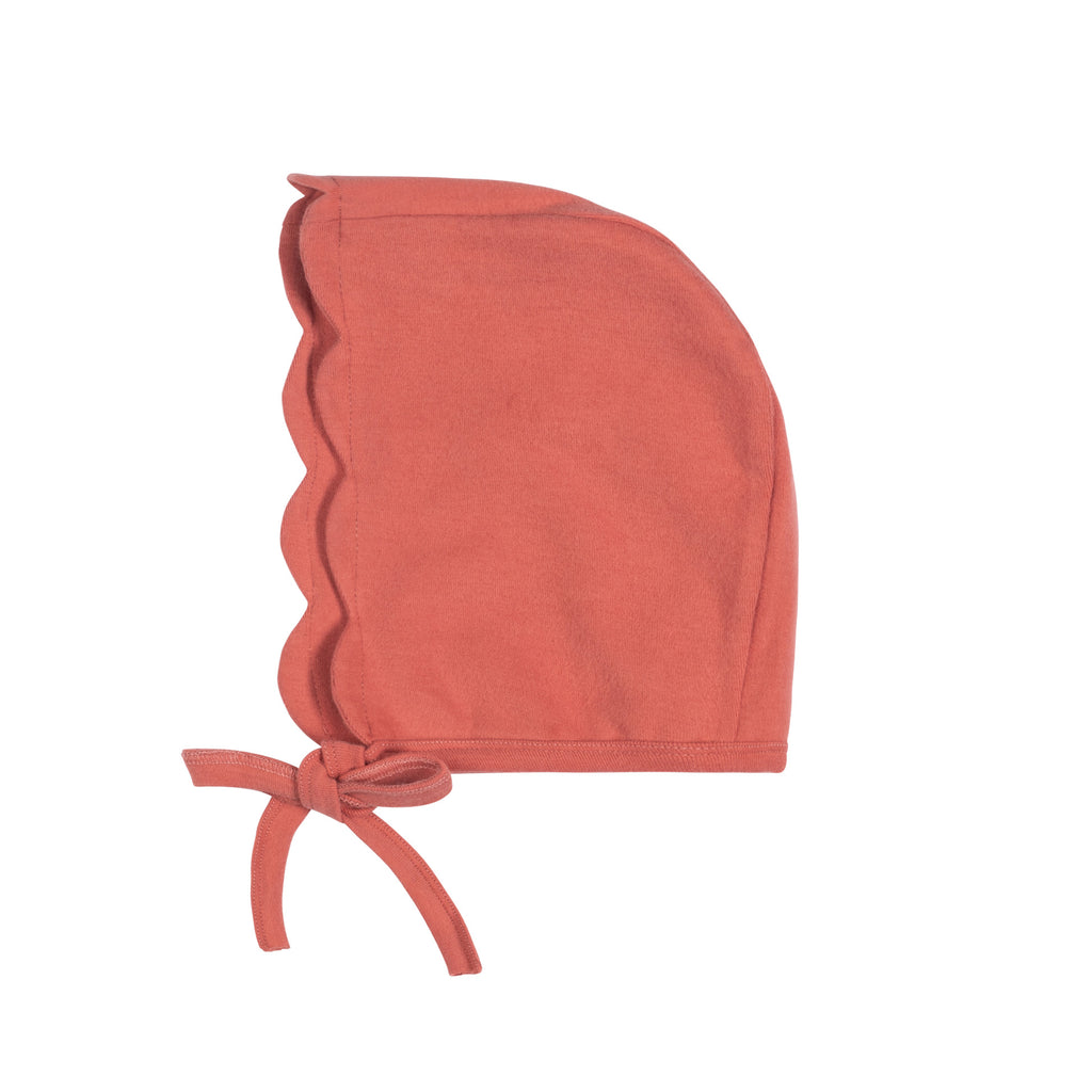 Bon Rever Deep Rose Enfant Footie With Bonnet