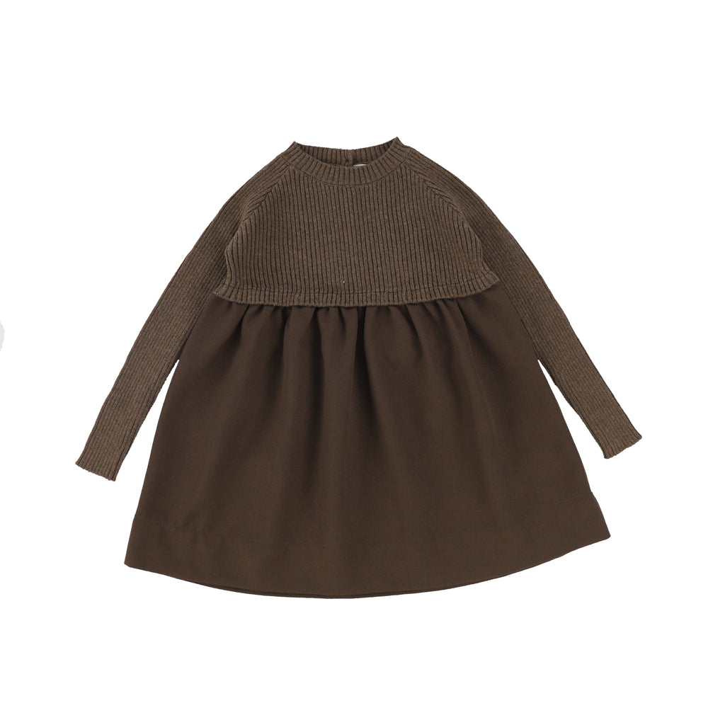 Analogie Dark Walnut Knit Dress