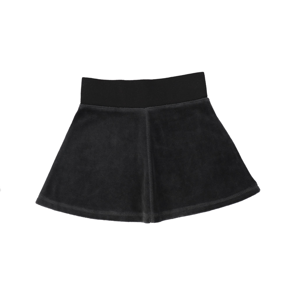 Analogie Grey Velour Skirt