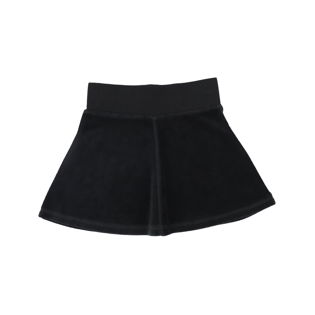 Analogie Black Velour Skirt