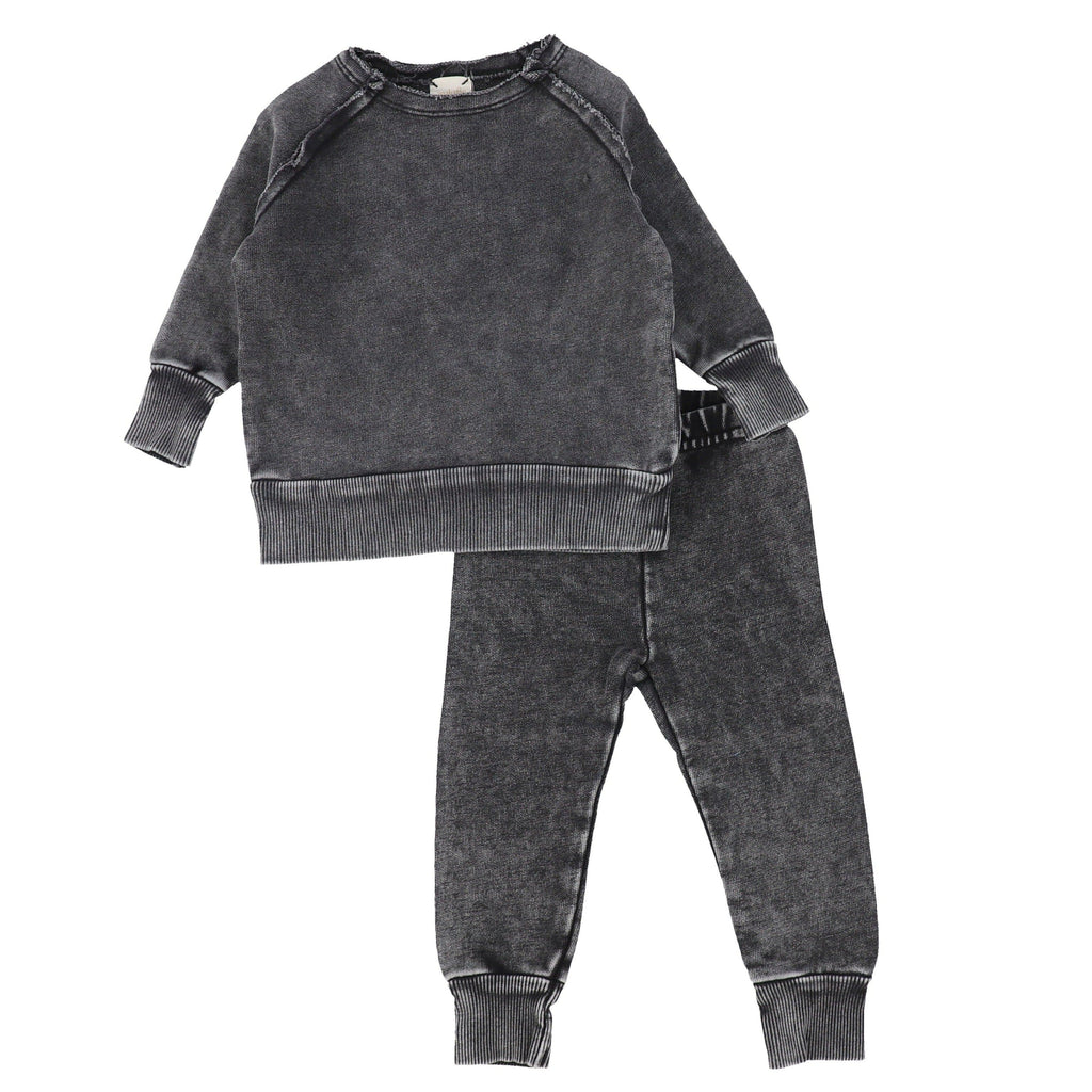Analogie Black Wash Denim Raglan Set