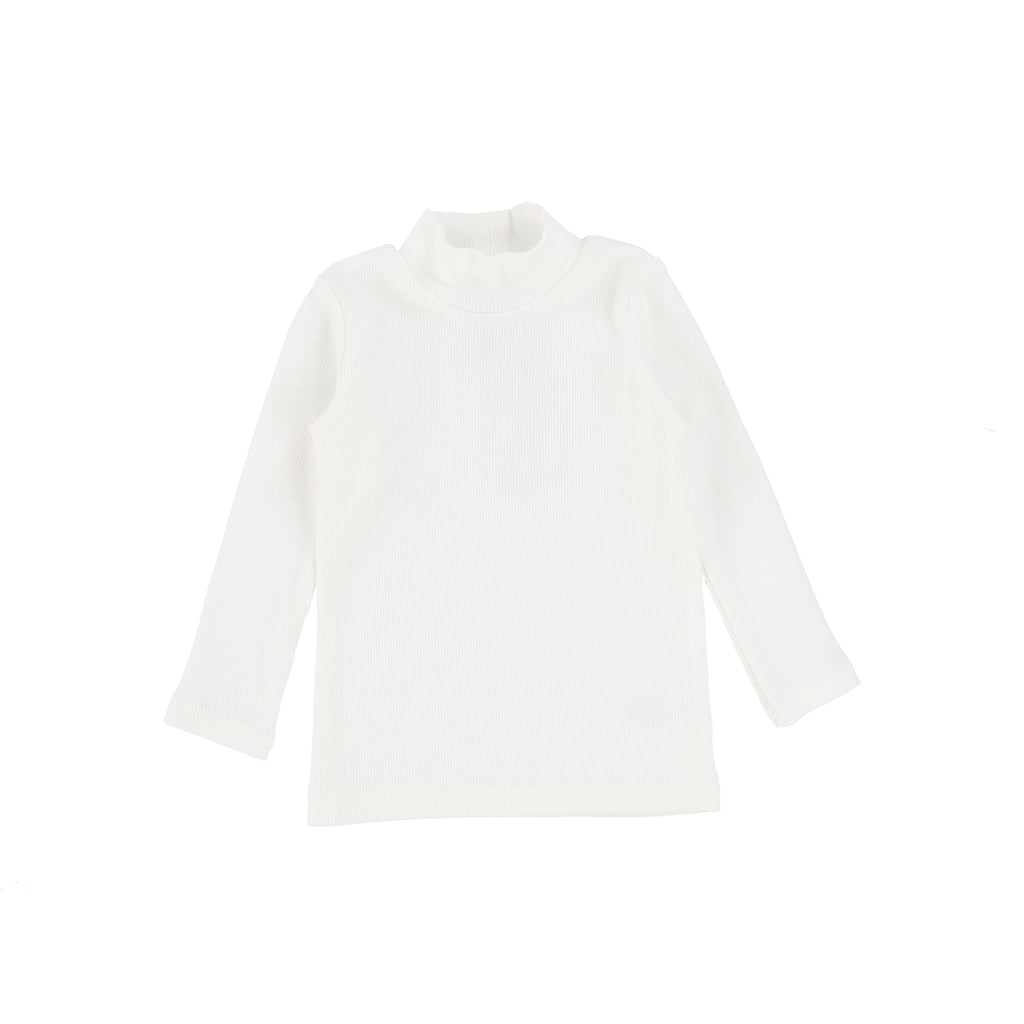 Lil Legs Winter White Bamboo Turtleneck