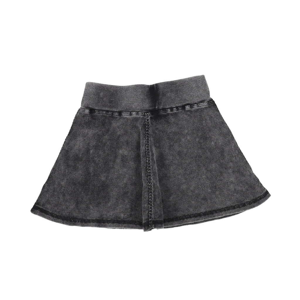 Lil Legs Black Wash Ribbed Skirt
