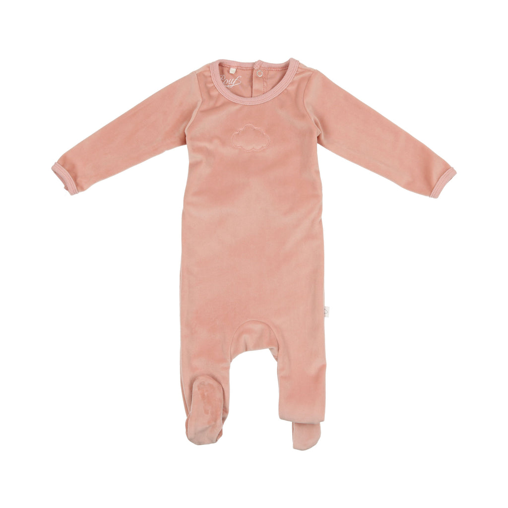 Pouf Pink Velour Cloud Footie