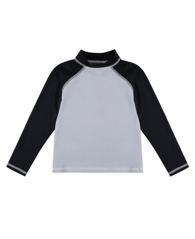 Turtledove Slate Colorblock Rash Guard