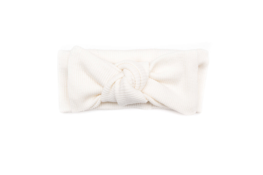 Tun Tun Ivory Ribbed Headband