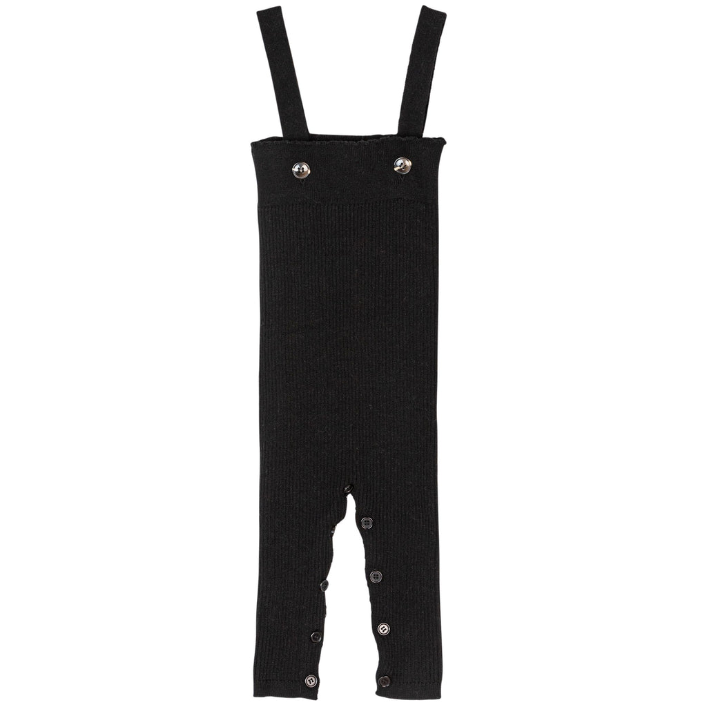 Sweet Threads Black Ribbed Romper