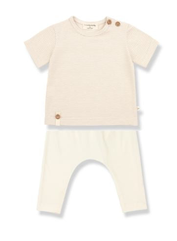 1+ In The Family Cream Striped Set