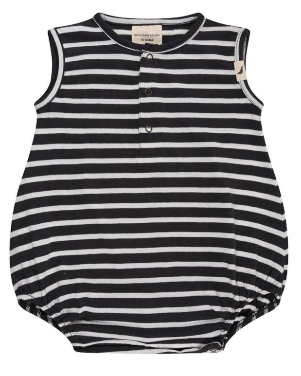 Turtledove Stripe Bubble Romper