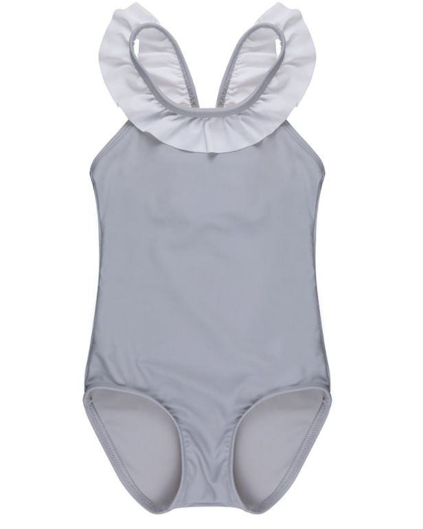 Turtledove Slate Frill Bathing Suit