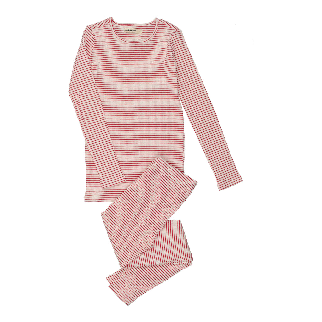 Urbani Mauve Striped Pajamas