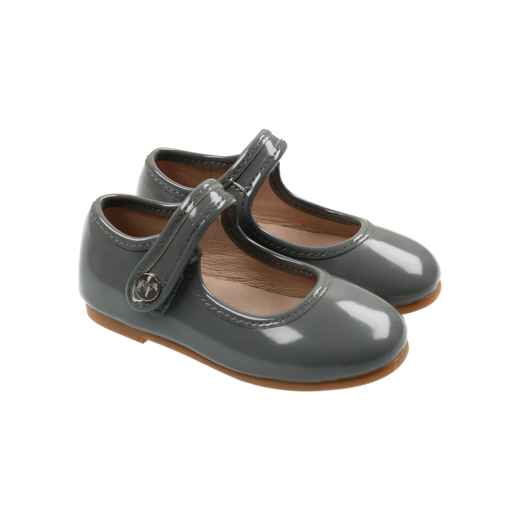 Zeebra Kids Iron Grey Patent Leather Mary Jane