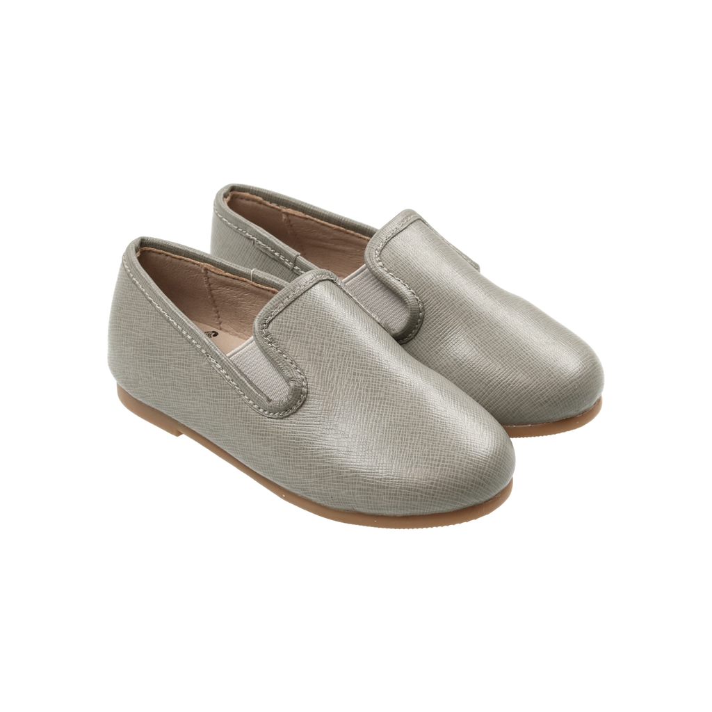 Zeebra Kids Misty Grey Classic Leather Loafer