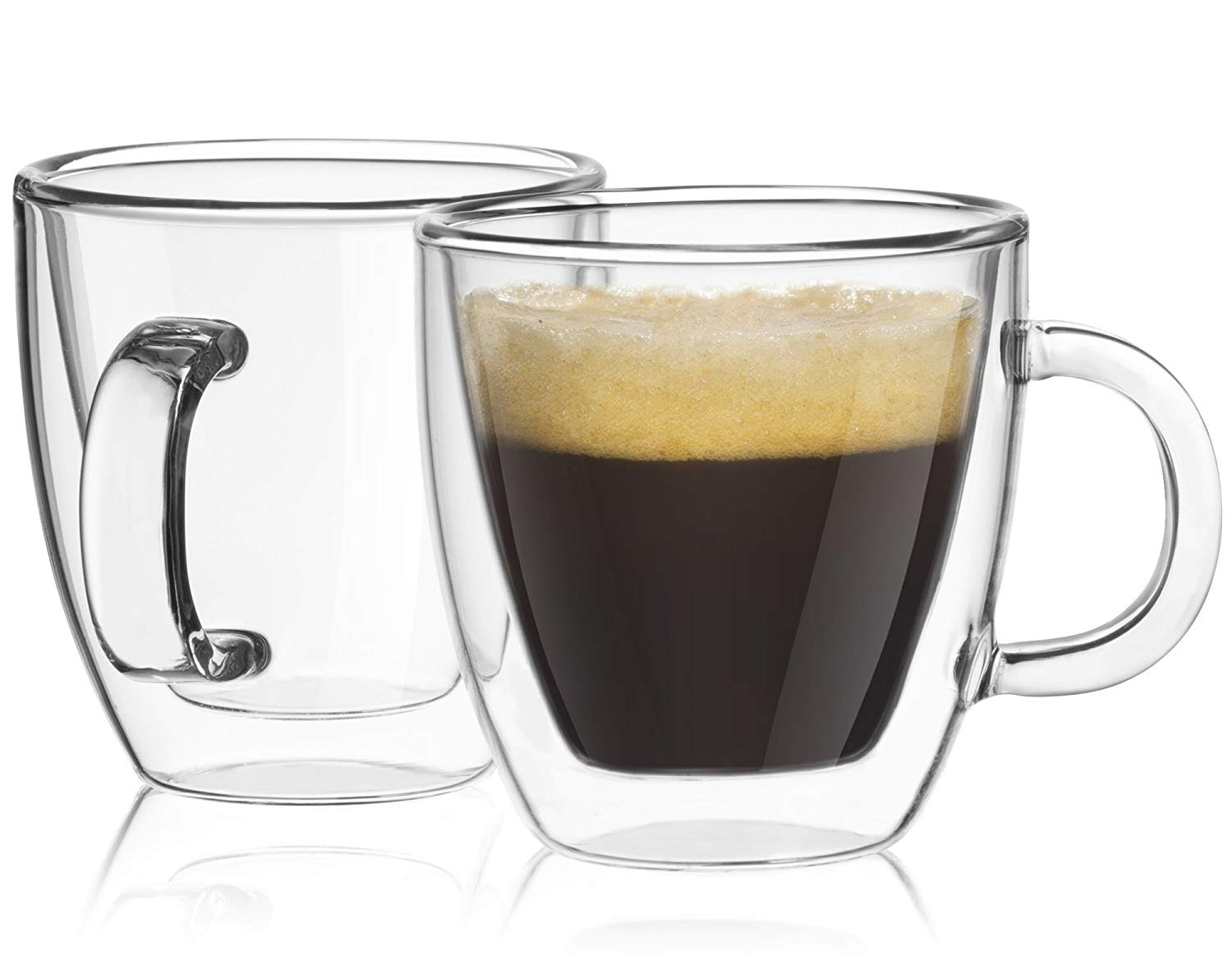 LLESS Savor Double Wall Insulated Glasses Espresso Mugs Set of 2