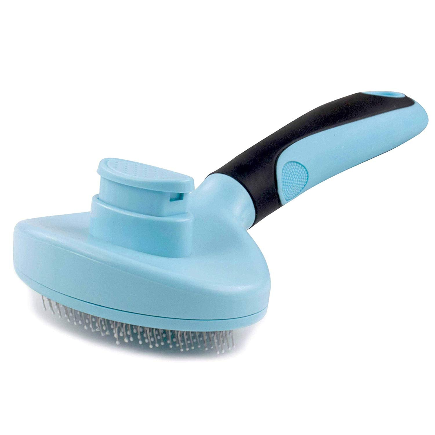 LLESS Dog Brush & Cat Brush & Pet Brush - Quick Soft Self Cleaning Brush - for Long/Short Hair - Pet Shedding Grooming Tools - Idesl for Everyday Brushing or Sensitive Skin Blue & Black